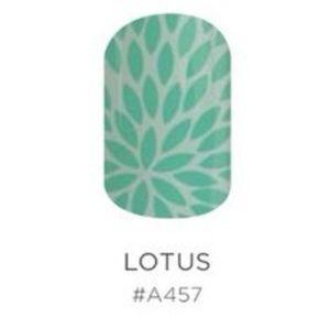 Cute Seagreen Lotus Jamberry Nail Wraps